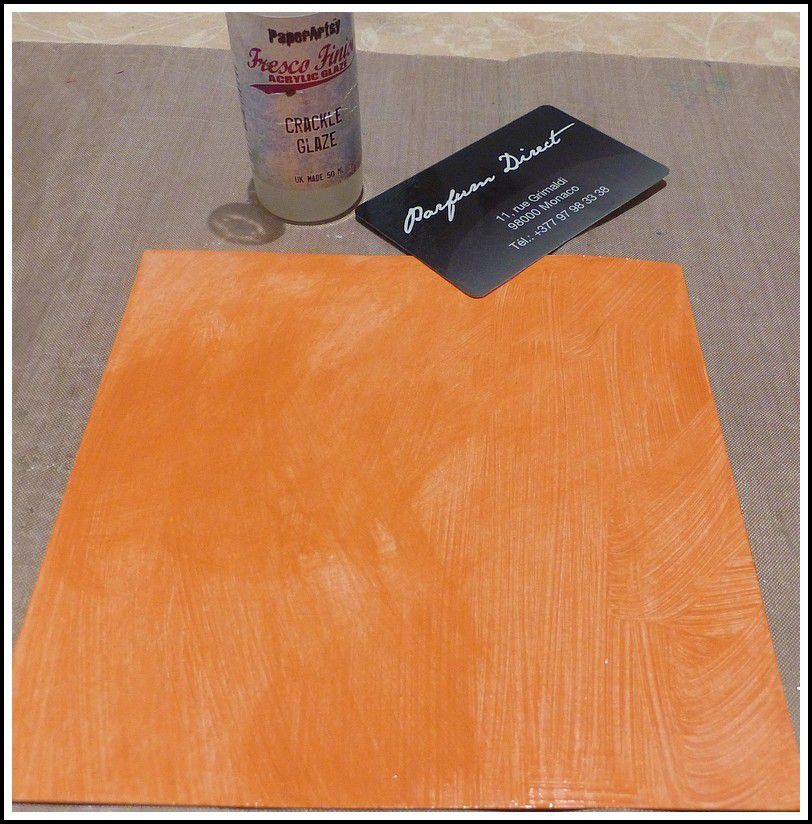 CARTE AVEC CRACKLE GLAZE ET FRESCO FINISH PAINTS