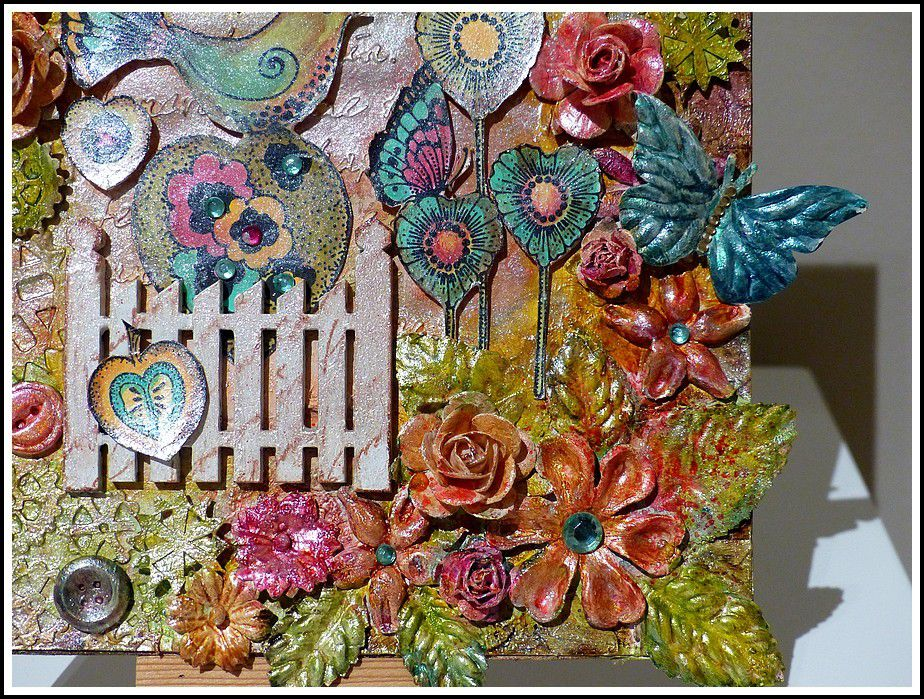 CANVAS MIXED MEDIA - Challenge 7 : CHOCOLATE BAROQUE