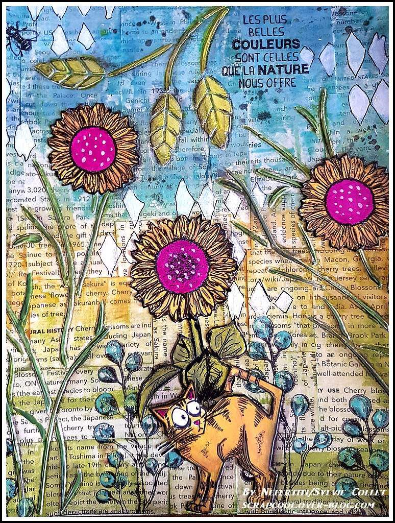 ART JOURNAL  : CHAT DANS LA NATURE