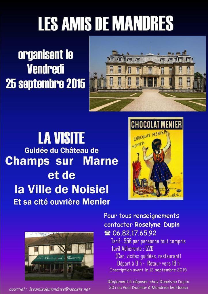 CHAMPS...Chocolat...le 25 septembre avec LES AMIS