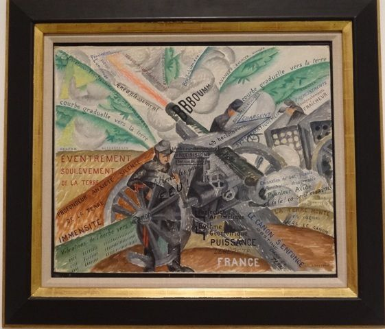 Gino Severini, canons en action, 1915.