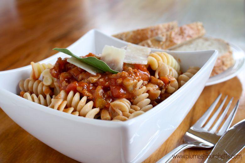 Sauce à spaghetti à la dinde