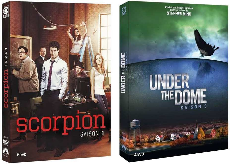 """SCORPION"", SAISON 1 ET ""UNDER THE DOME"", SAISON 3 EN DVD"