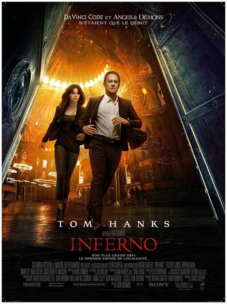 &quot&#x3B;INFERNO&quot&#x3B;, NOUVELLE BANDE-ANNONCE (RON HOWARD, TOM HANKS)