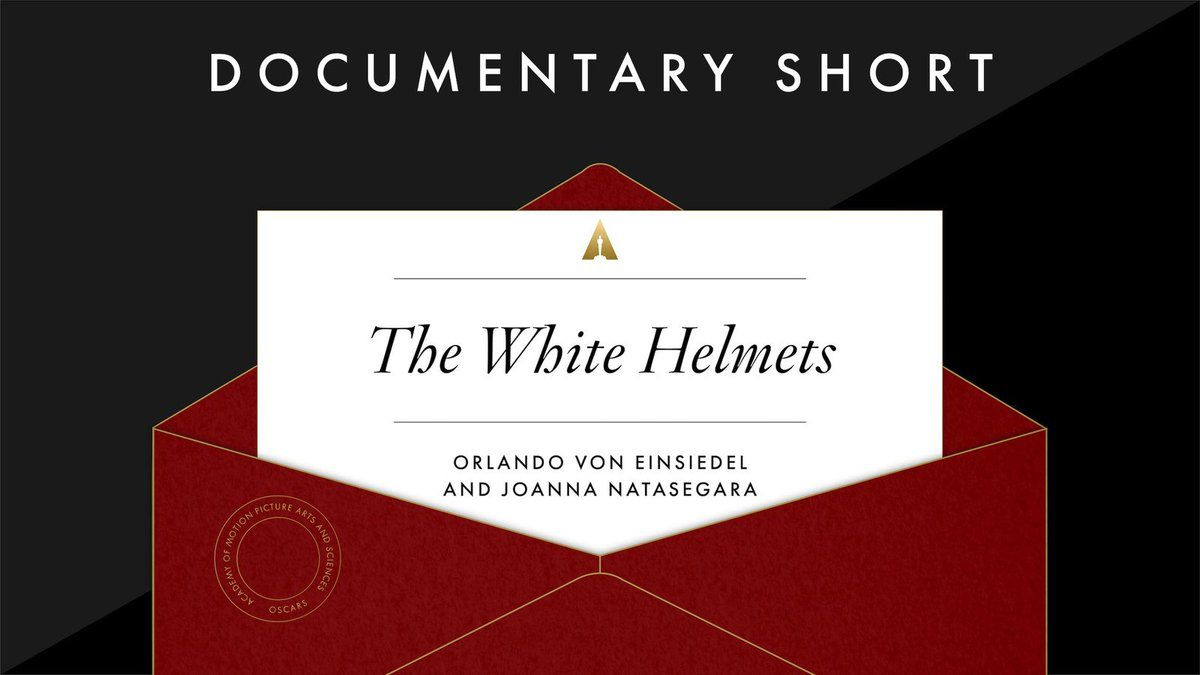 "Meilleur court-métrage de documentaire: ""The White Helmets"""