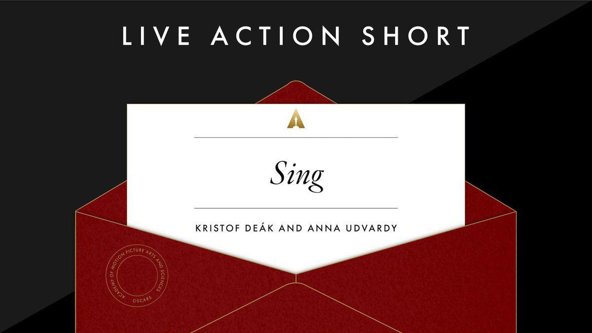 """Meilleur court métrage: """"Sing"""""""