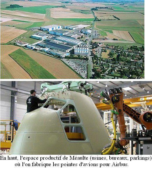 Airbus est un bon exemple d'industrie de haute technologie, et Méaulte peut être considéré comme un pôle de compétitivité.