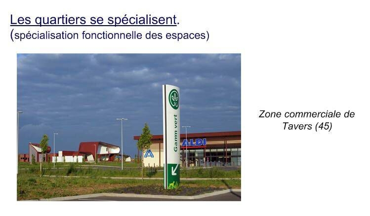 Tavers devient la zone commerciale de Beaugency. Trignac celle de Saint-Nazaire etc.