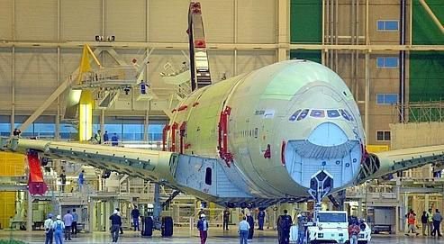 Construction d'un airbus A380 à Toulouse (Photo AFP)