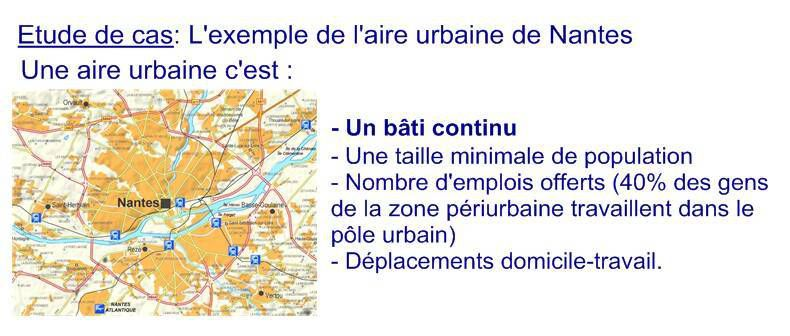 1ère Géo, Thème 2, Question 2: La France en villes