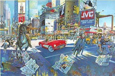 Document 2: Daniel Authouart,  Manhattan Colors, huile sur Toile, 1998, collection privée.