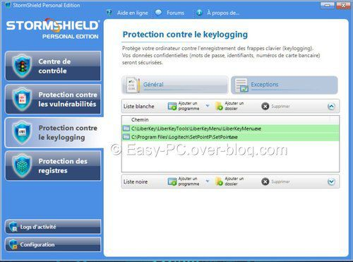 Protection Keyloggin StormShield