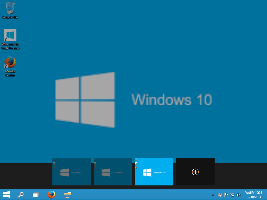 "Bureaux Virtuels ""Task View"" Windows 10 TP"