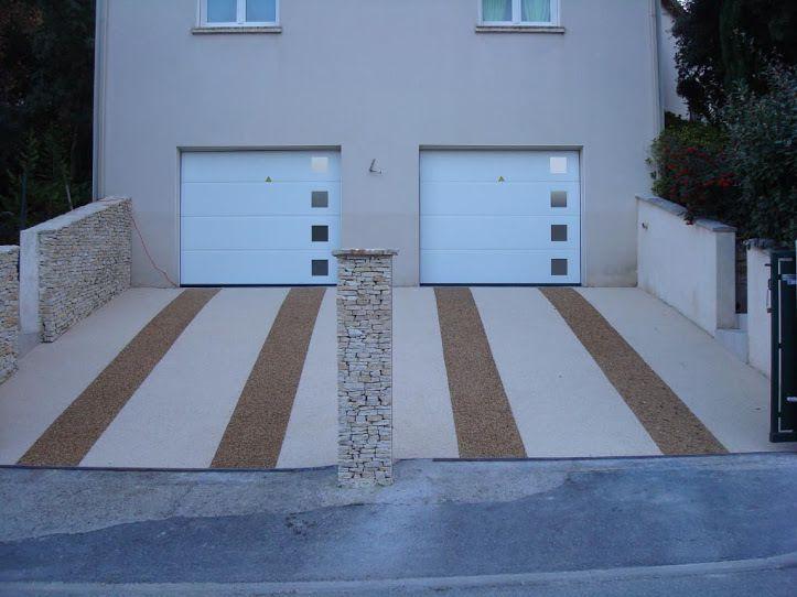 Design jardins resine de marbre moquette de pierre for Garage exterieur design