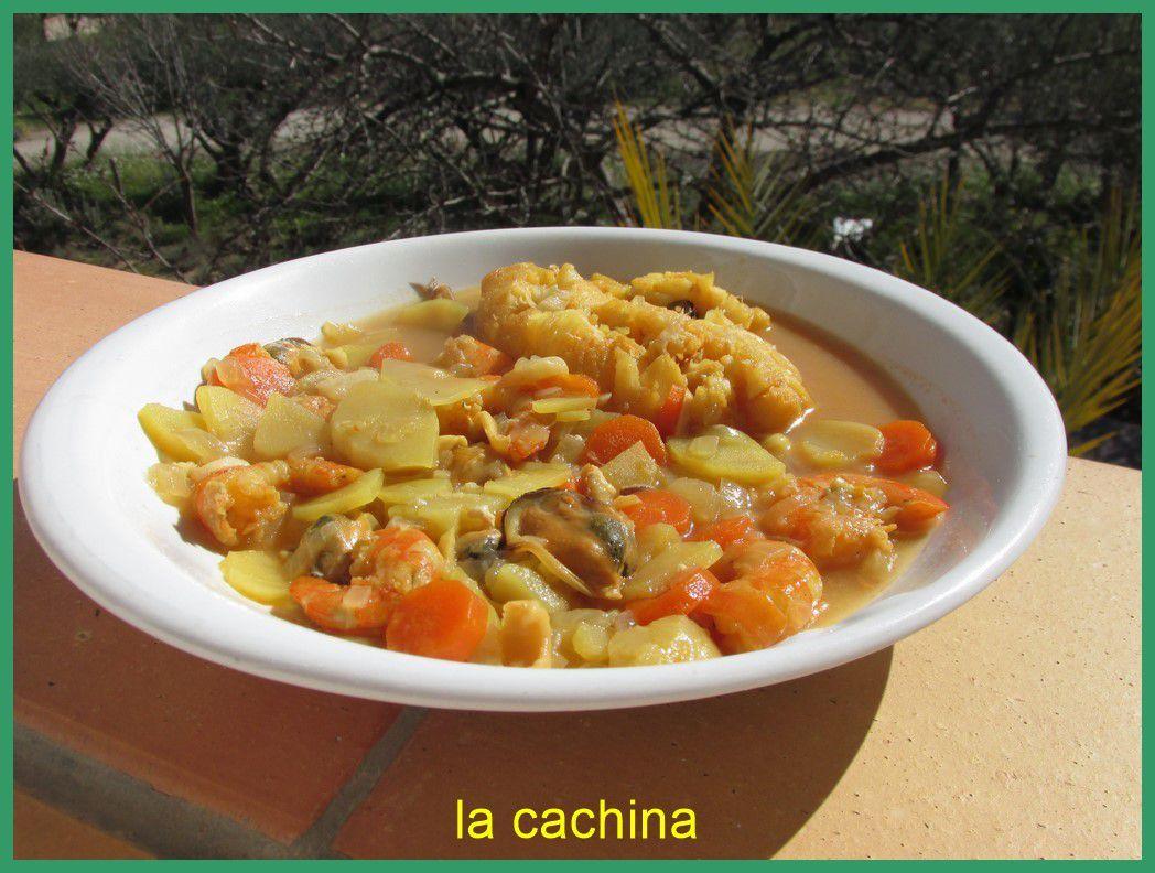 Soupe de poisson  du congel (recette légère)