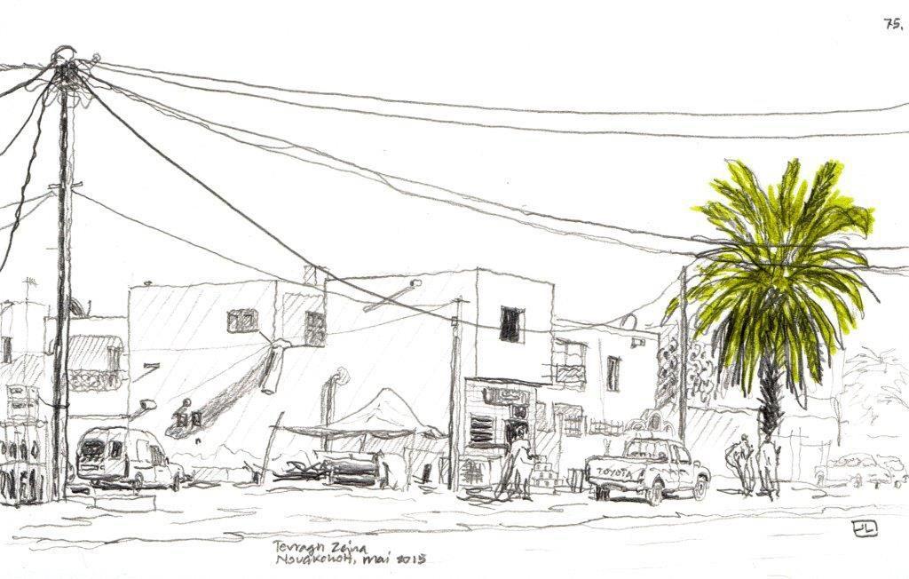 José Javier Legarra-Urbanisme : L'âme de Nouakchott, en dessins