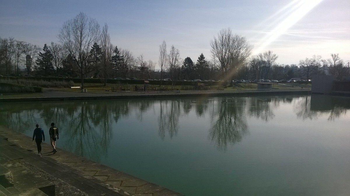 Du progrés pour les photos, aucune floue ! et quelques rayons de soleil sur le lac en prime !