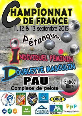 Championnat de France doublette (H) 2015 à Pau