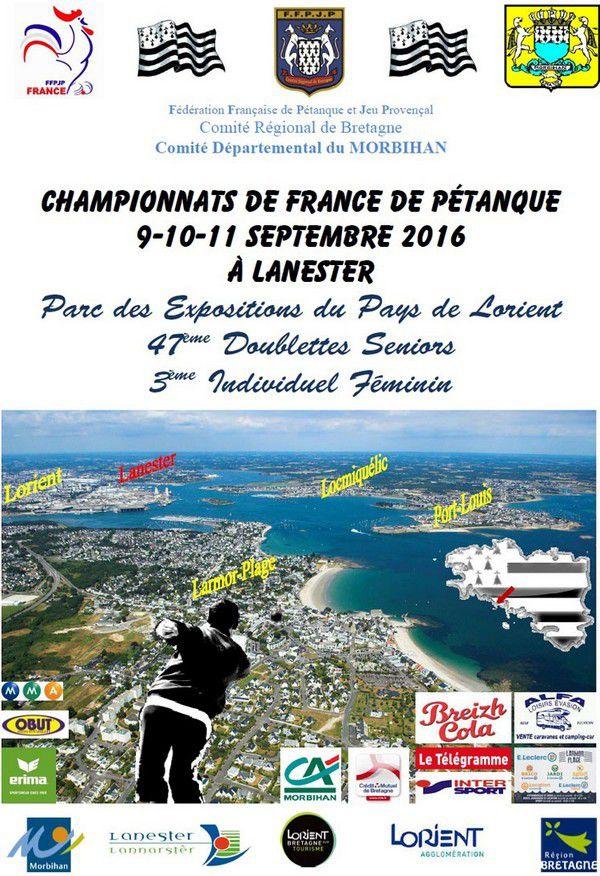 Championnat de France doublette 2016 masculin