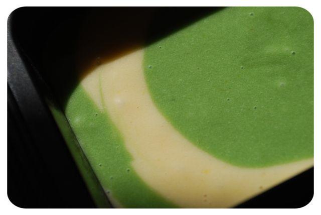 Cake yaourt marbré à la pistache