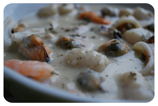 Cassolette de fruits de mer (thermomix)