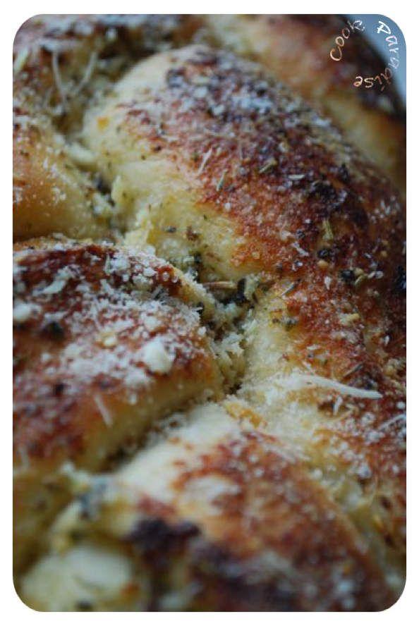 Pain apéritif mozzarella-ail (easy gralic bread)