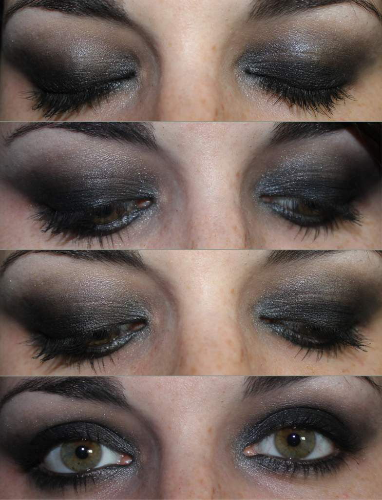 Maquillage de soir e smoky eyes noir charbonneux kristalle make up - Maquillage yeux charbonneux ...