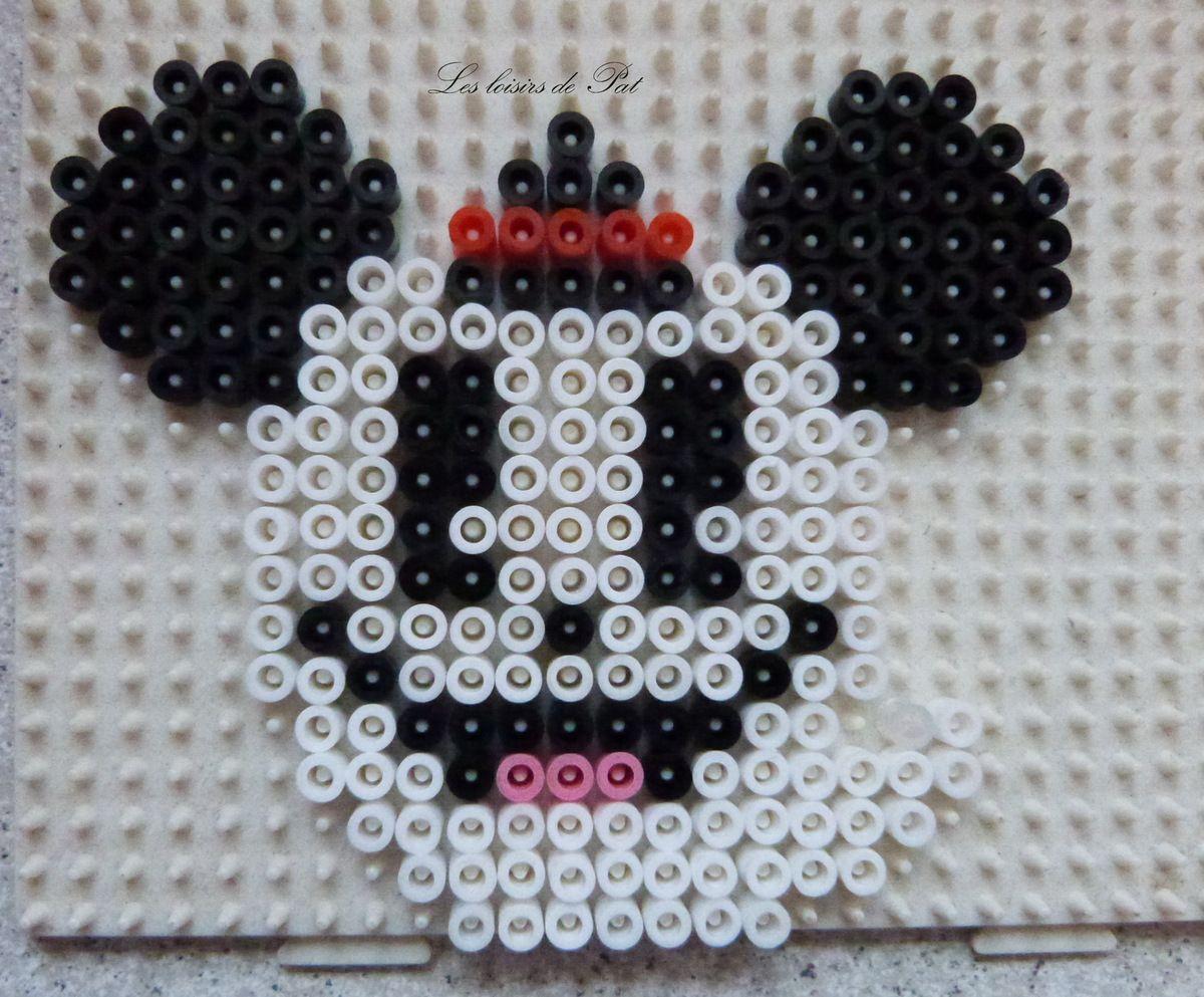 Perles Hama : Mickey et Minnie fantôme