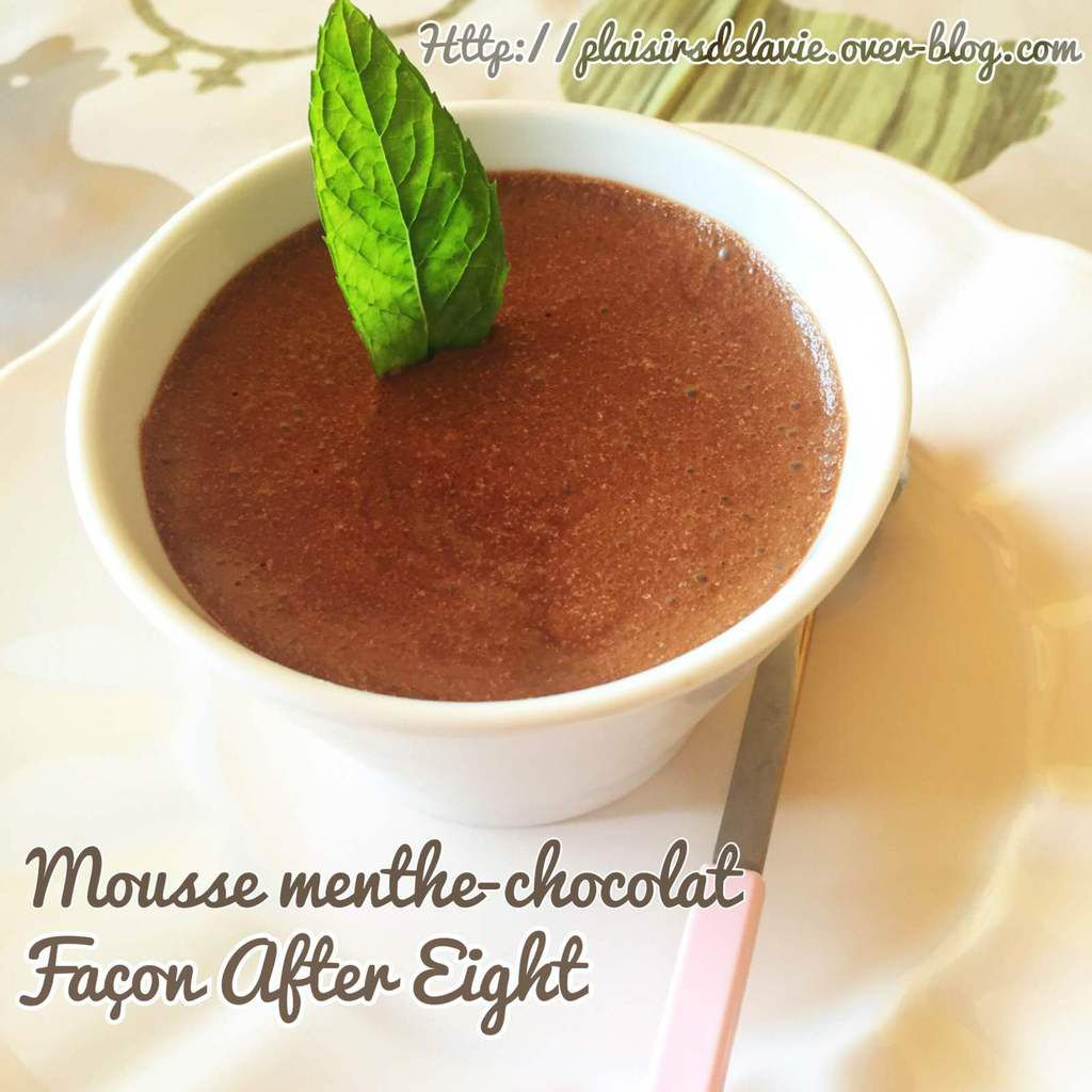 Mousse menthe-chocolat, façon After Eight