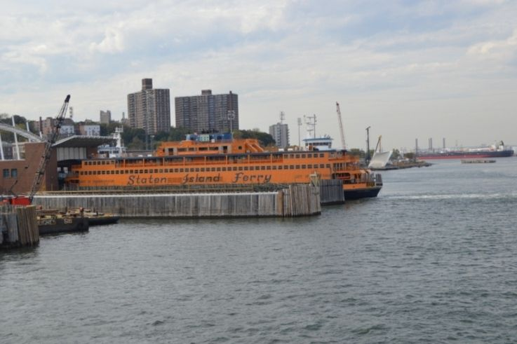 Le ferry qui traverse vers Staten Island...