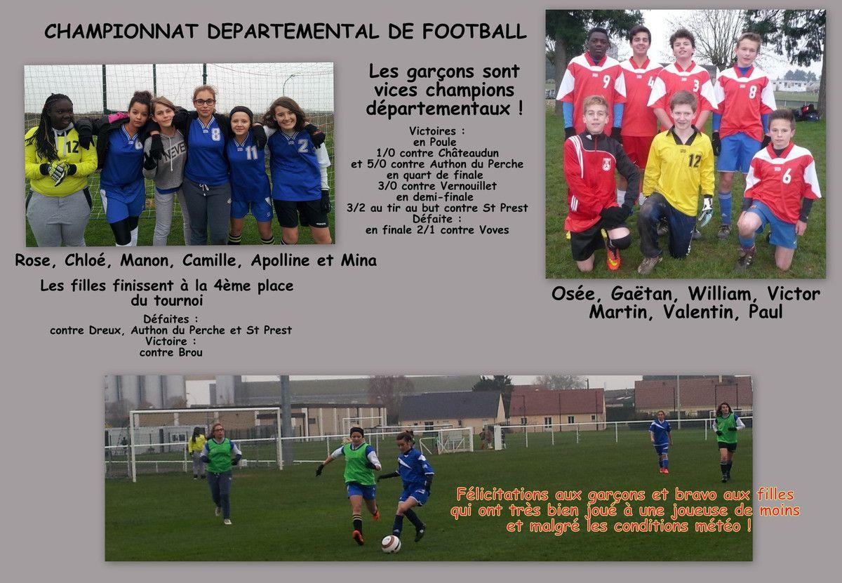 RESULTATS DU CHAMPIONNAT DEPARTEMENTAL DE FOOTBALL