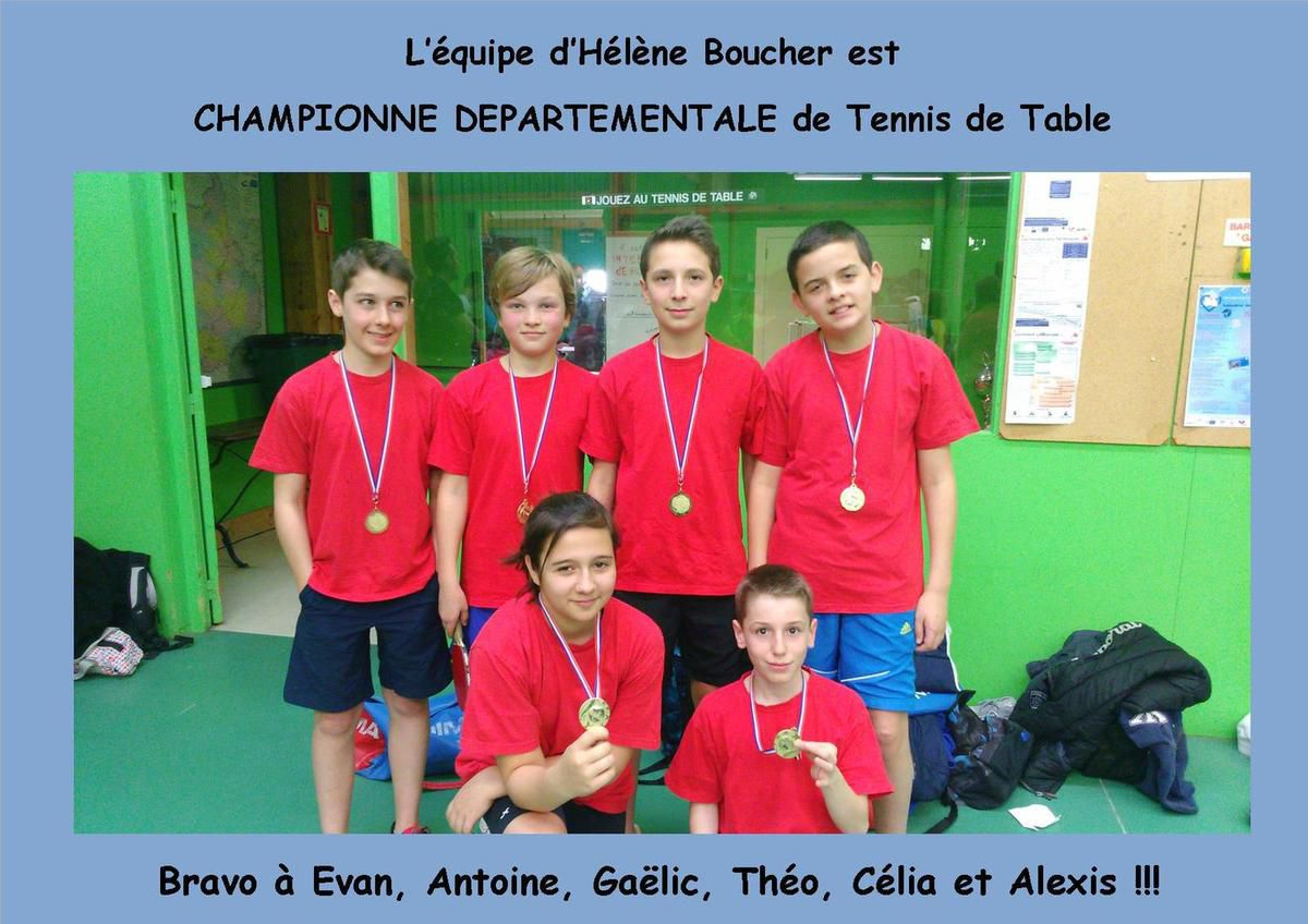 Resultat du championnat departemental de tennis de table - Comite departemental de tennis de table ...