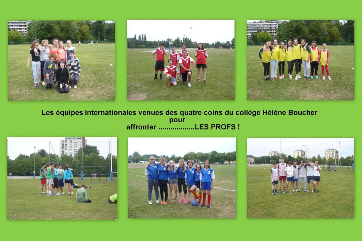RENCONTRE FOOT PROFS-ELEVES 2015 EN IMAGES
