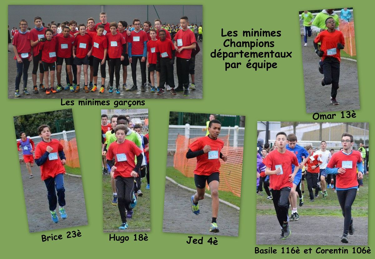 RESULTATS DU CROSS DEPARTEMENTAL DU MERCREDI 25 NOVEMBRE