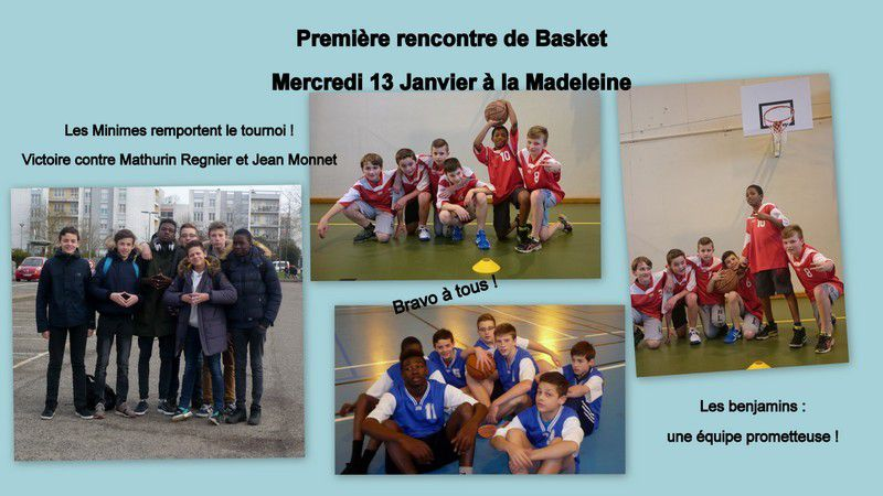 AS SPORTS COLLECTIFS - Mercredi 13 Janvier