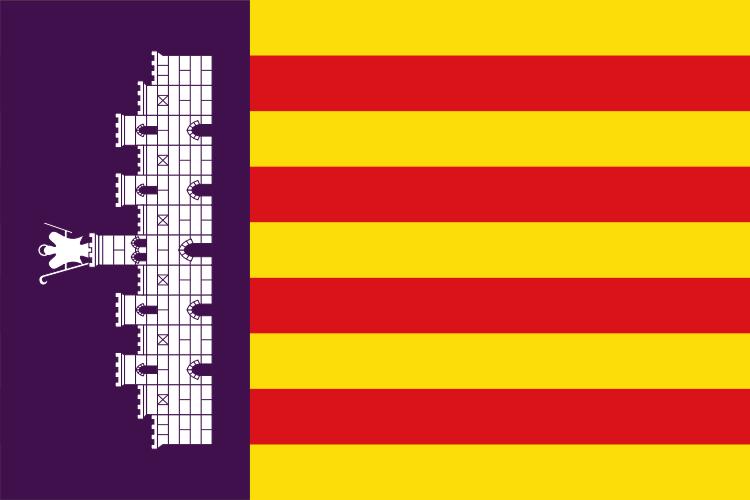 Drapeaux de Majorque et des Baléares
