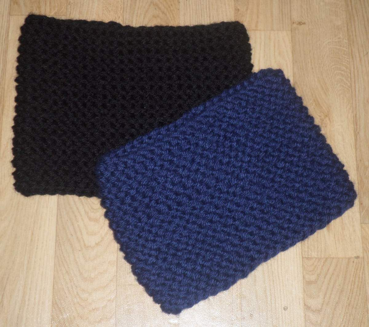 2 gros snood au point mousse
