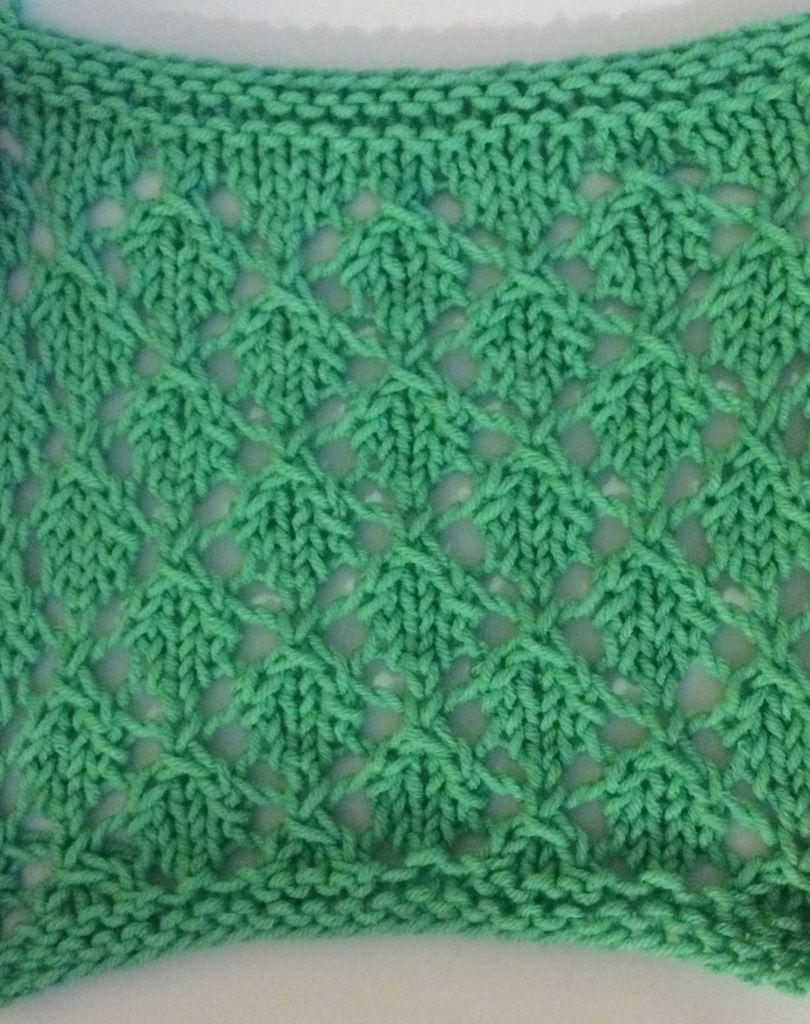 point de tricot : petites feuilles