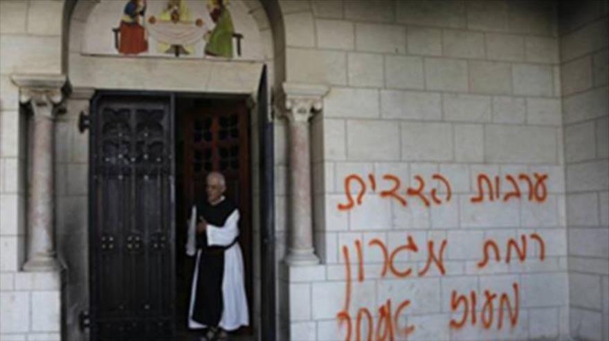 Un ataque de colonos israelíes a una iglesia en territorios ocupados palestinos
