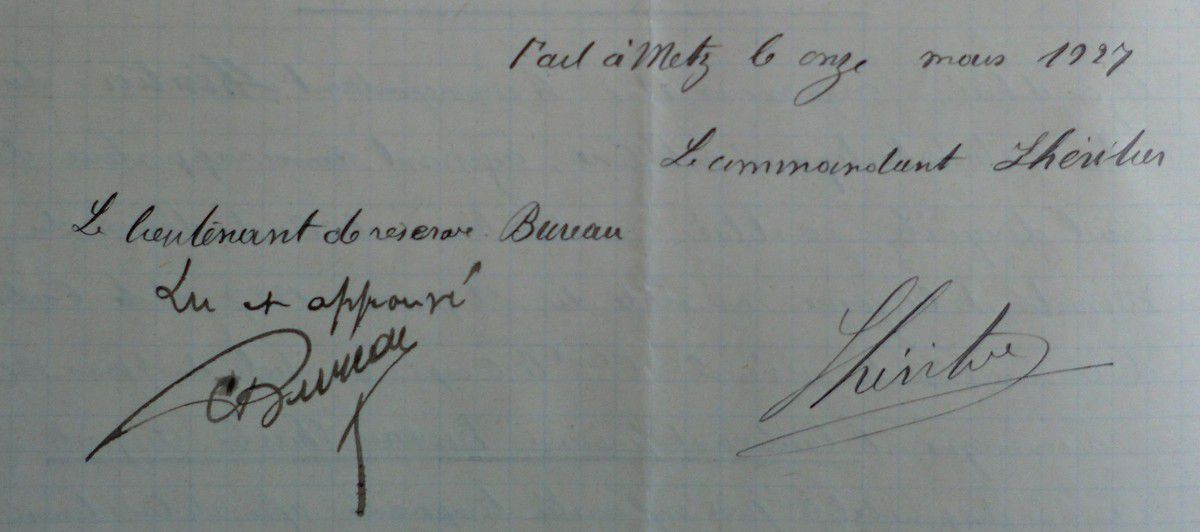 Signature de Charles Bureau-11 mars 1927.