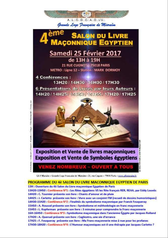 4e Salon du livre maçonnique égyptien