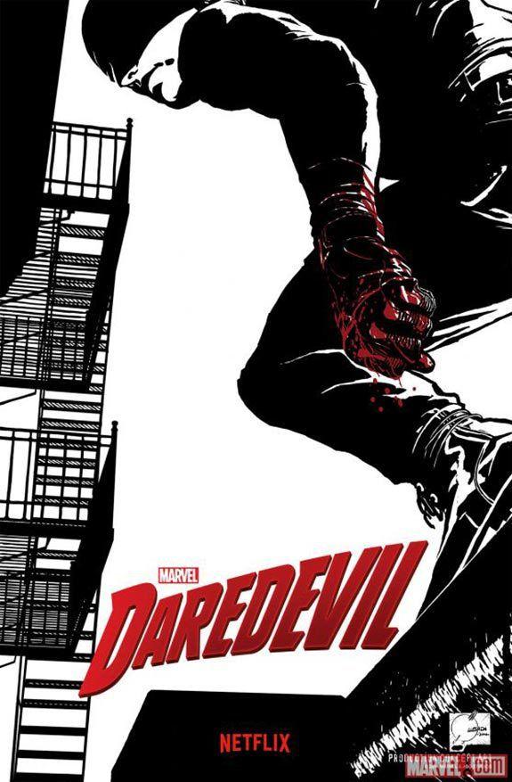 Photo officielle de Daredevil et de Charlie Cox en Matt Murdock