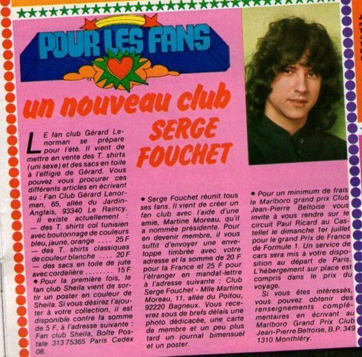 FAN CLUB SERGE FOUCHET