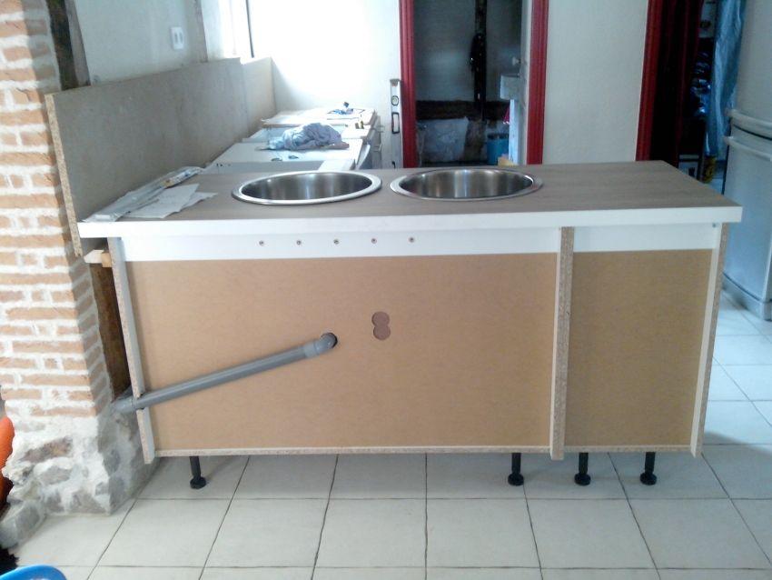 La nouvelle cuisine !!! Les meubles... côté fenêtre