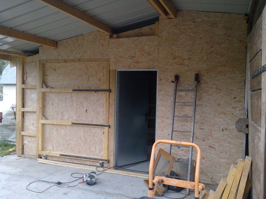 Agrandissement du garage 06. Le dernier mur