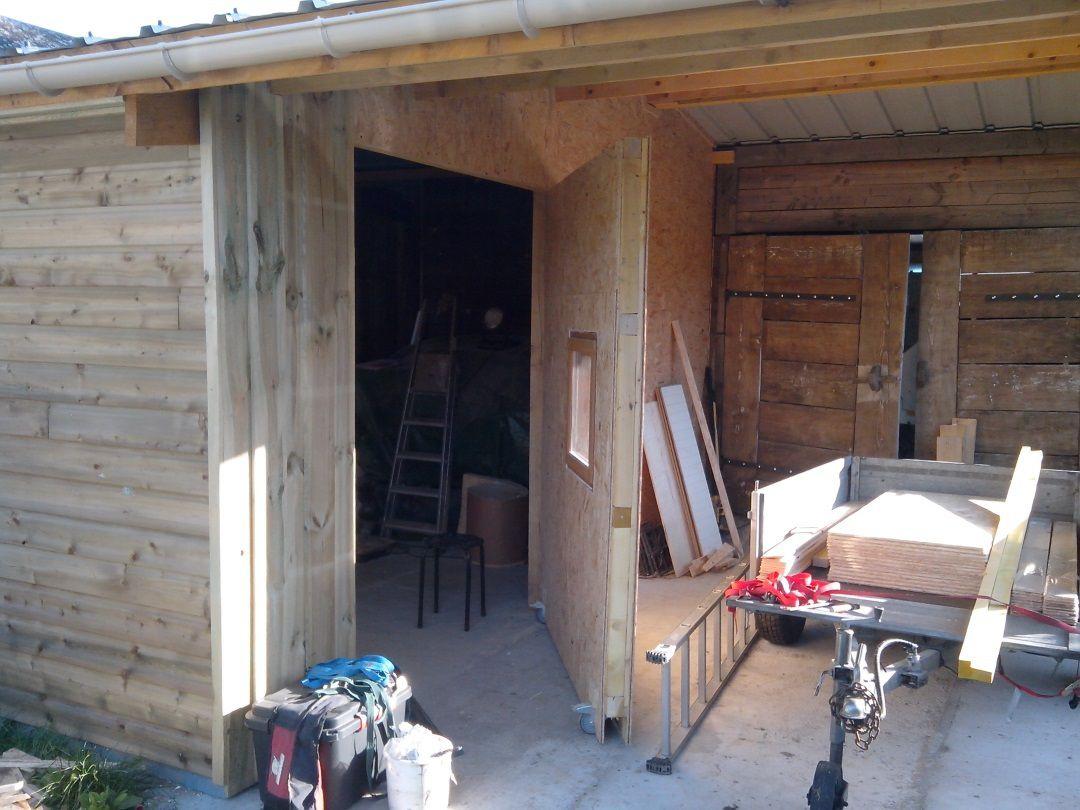Agrandissement du garage 08. L'intérieur