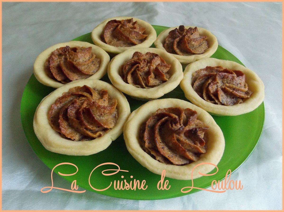 Tartelettes noisette-praliné