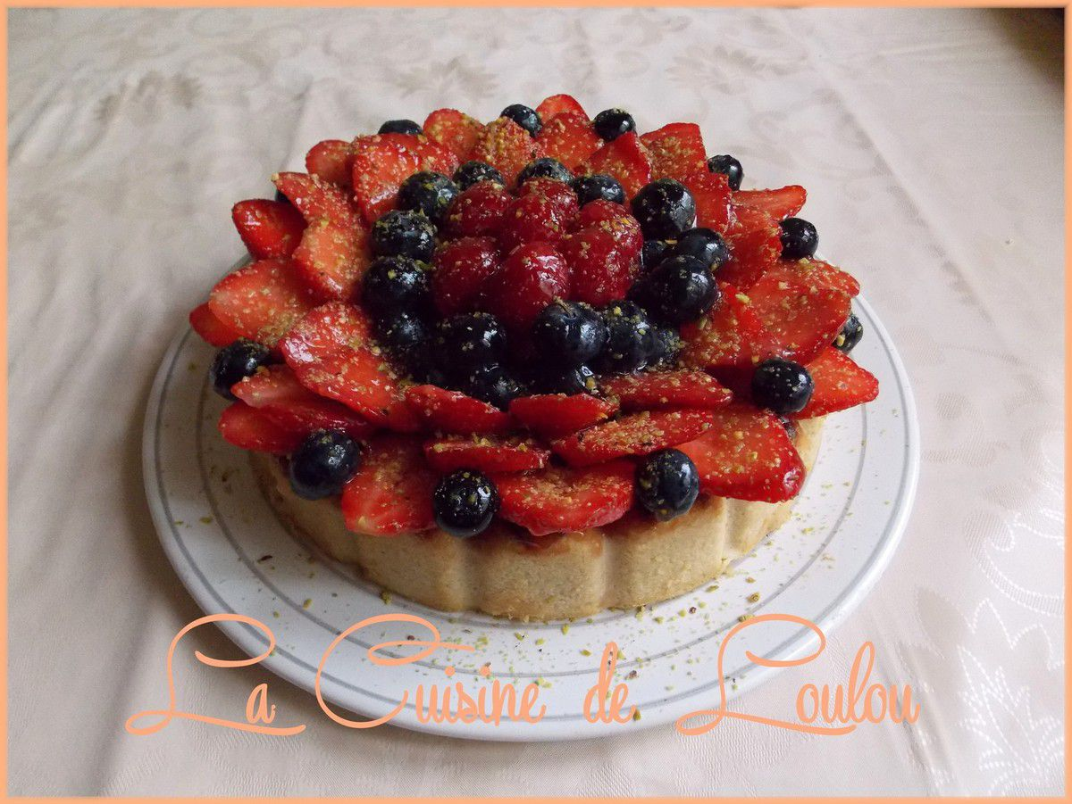 Cheese cake sans croute aux fruits rouges