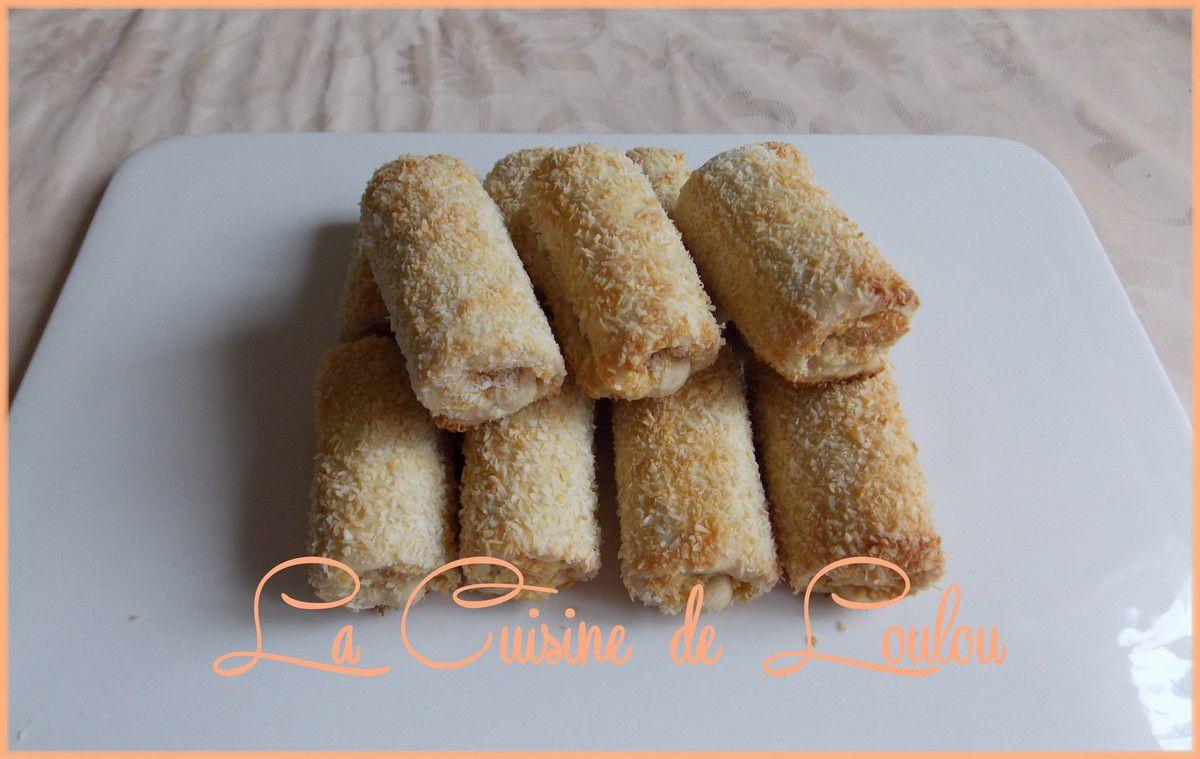 Rouleaux fourrés à la noix de coco et mangue-passion
