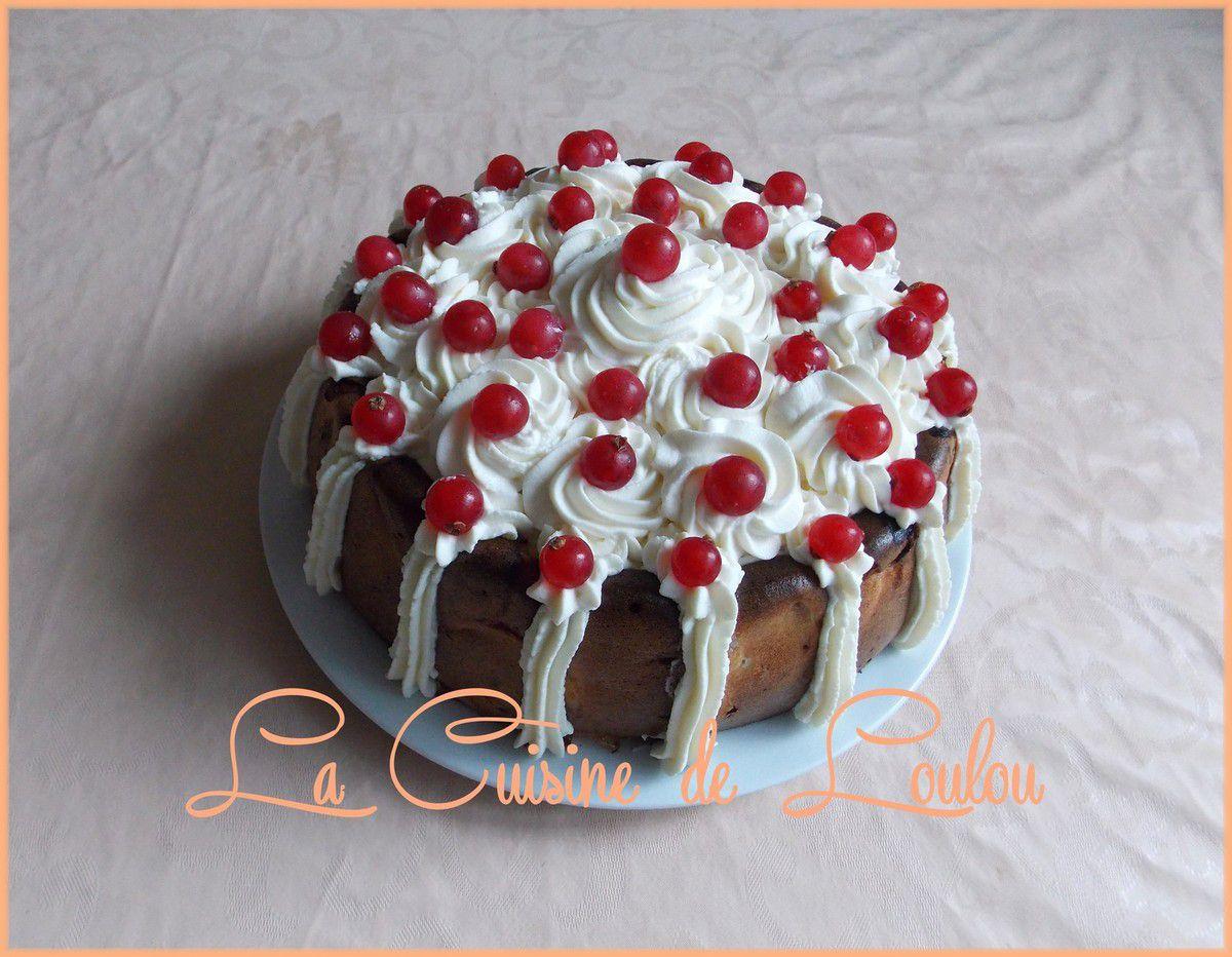Cake poires-groseilles avec topping crème aux fromages citronnée